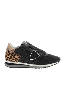 Philippe Model - TRPX L D sneakers in black and animal print