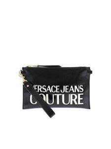Versace Jeans Couture - 3D effect logo clutch bag in black