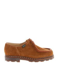 Paraboot - Michael suede derby shoes in brown