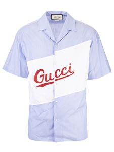 Gucci - Gucci bowling shirt in light blue and white