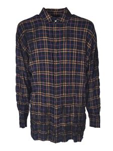 Palm Angels - Checked shirt in blue