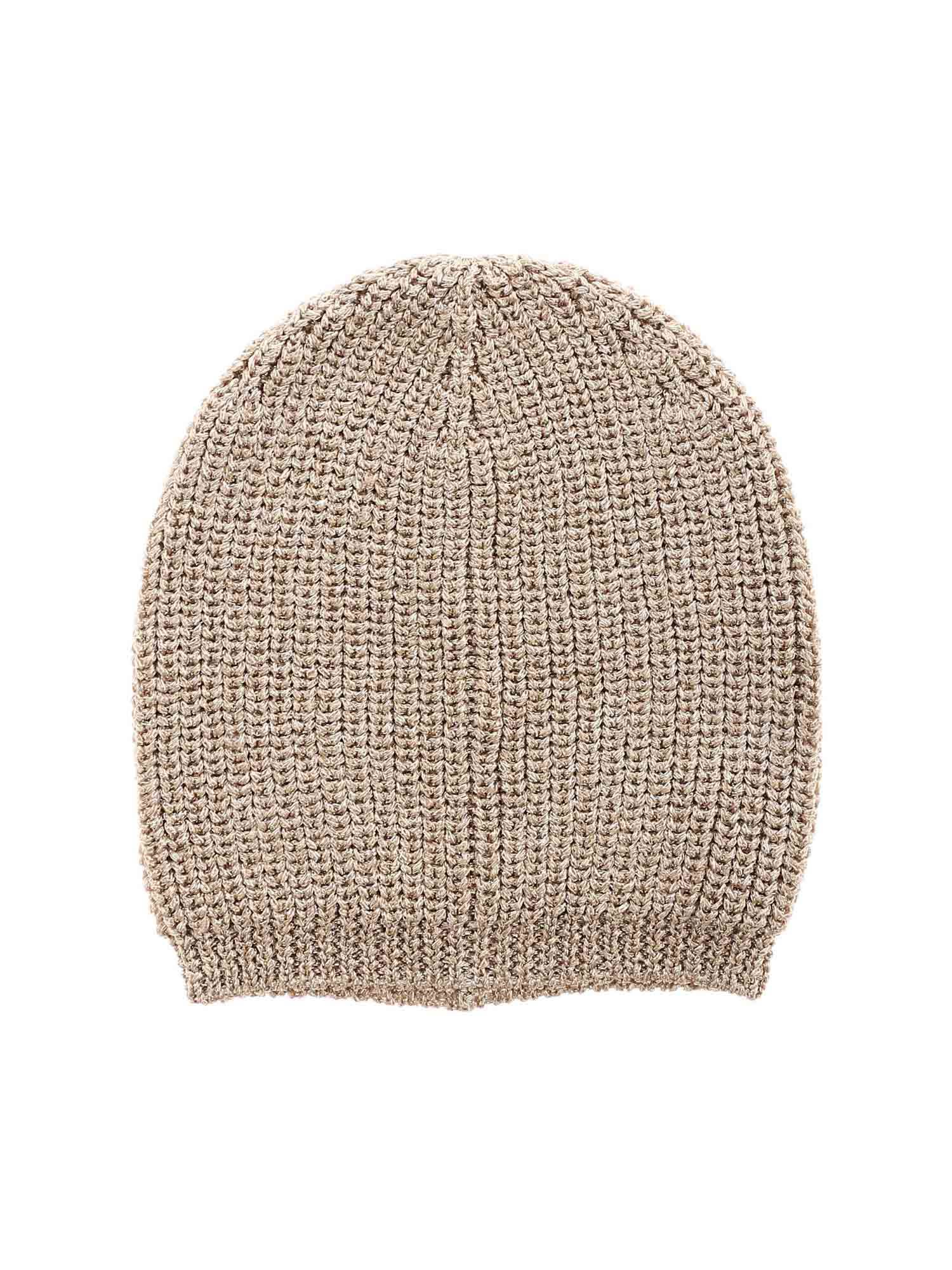Dondup Beanies GOLDEN BEANIE FEATURING LAMÉ DETAIL