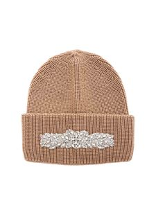Dondup - Beige beanie featuring front jewel