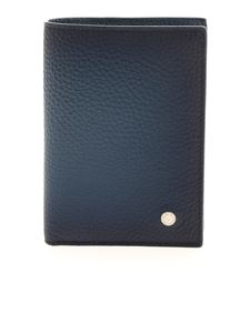 Orciani - Leather wallet in faded blue
