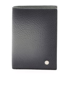 Orciani - Leather wallet in faded grey