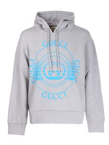 Gucci - Logo print sweatshirt in grey