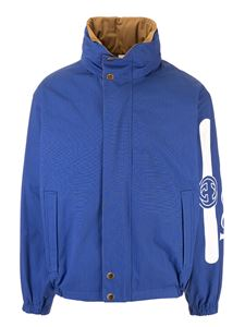 Gucci - Gucci reversible jacket in blue and beige