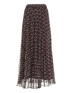Parosh - Multicolor pleated long skirt