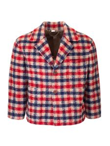 Gucci - Checked wool jacket in red and blue