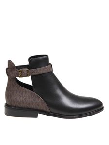 Michael Kors - Lawson ankle boots in black and brown