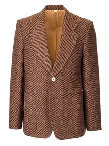 Gucci - Diagonal GG jacket in brown and beige