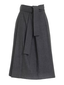 Parosh - Plane skirt in melange grey