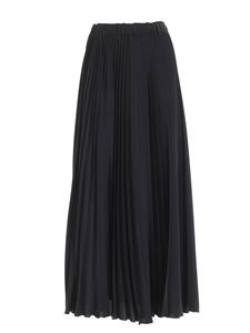Les Copains - Pleated long skirt in black