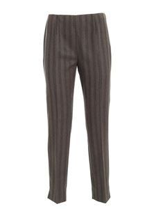 Les Copains - Striped pattern pants in brown