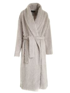 Lorena Antoniazzi - Belt coat in beige