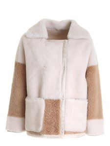 Diego M - Reversible double-breasted bicolor coat