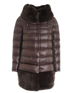 Diego M - Quilted jacket in brown