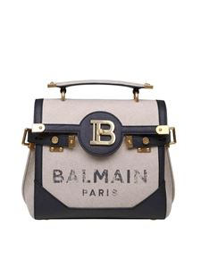 Balmain - Borsa a mano B Buzz 23 in tela color naturale