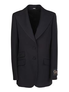 Gucci - Oversized fit single-breasted blazer in black