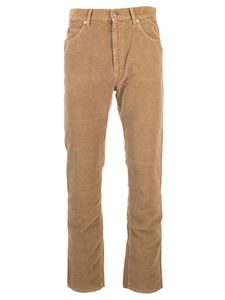 Gucci - Washed-effect velvet pants in camel color