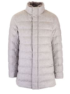 Herno - Down jacket with beaver collar in grey