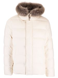 Herno - Coyote collar down jacket in ivory color