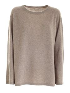 massimo alba - Wide sleeves cashmere pullover in beige