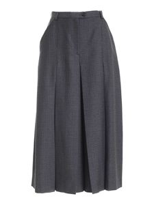 Maison Margiela - Houndstooth pants-skirt in the shades of blue