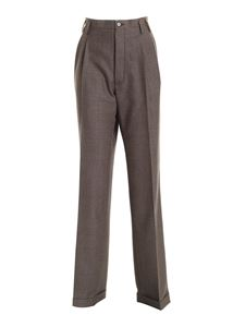 Maison Margiela - Wool pants in brown and black