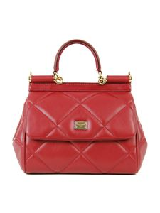 Dolce & Gabbana - Small Sicily matellase bag in red