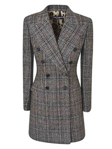 Dolce & Gabbana - Tartan check jacket in gray and brown