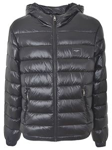 Dolce & Gabbana - Hooded down jacket in black