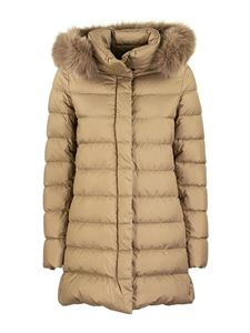 Herno - Polar-Tech padded coat in camel colour