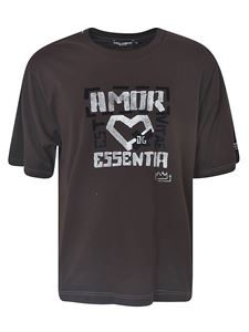 Dolce & Gabbana - Amor T-shirt in brown