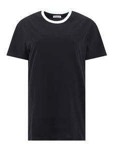Moncler - T-shirt con stampa logo dietro nera