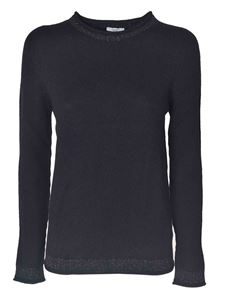 Peserico - Pullover with lamé in black