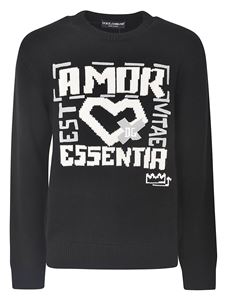 Dolce & Gabbana - Amor sweater in black