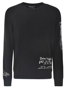 Dolce & Gabbana - Sweater in black with contrasting inlays