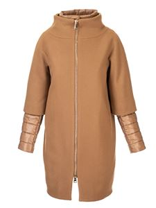 Herno - Padded coat in double fabric in camel color