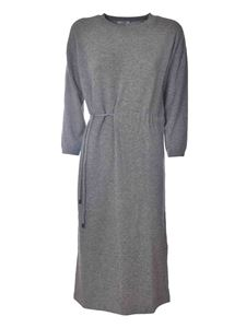 Peserico - Long knitted dress in grey