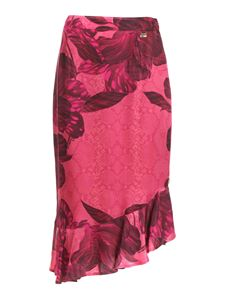 Class Roberto Cavalli - Flower print skirt in pink