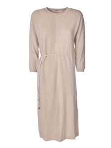 Peserico - Long knitted dress in beige