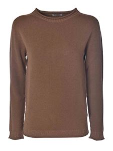 Peserico - Pullover with lamé in brown