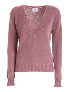 Dondup - Tricot effect pullover in melange purple