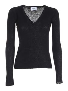 Dondup - Wool and cashmere pullover in black