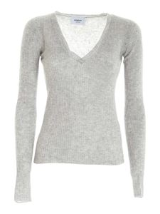 Dondup - Wool and cashmere pullover in melange grey