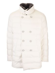 Herno - Down jacket with fur in white