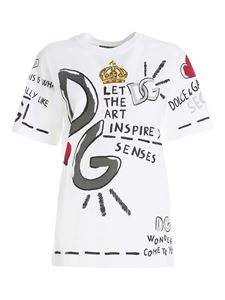 Dolce & Gabbana - Multicolor print T-shirt in white