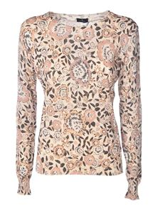 Etro - Floral motif sweater in beige and pink