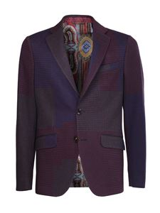 Etro - Giacca in jersey patchwork multicolo
